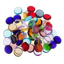 Ассорти Цвет круглые прозрачные стекловатый Стекло мозаика Плитки для искусство поделки своими руками