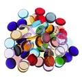 Farbe sortiert Runde Klar Glaskörper Glas Mosaik Fliesen für Kunst DIY Handwerk
