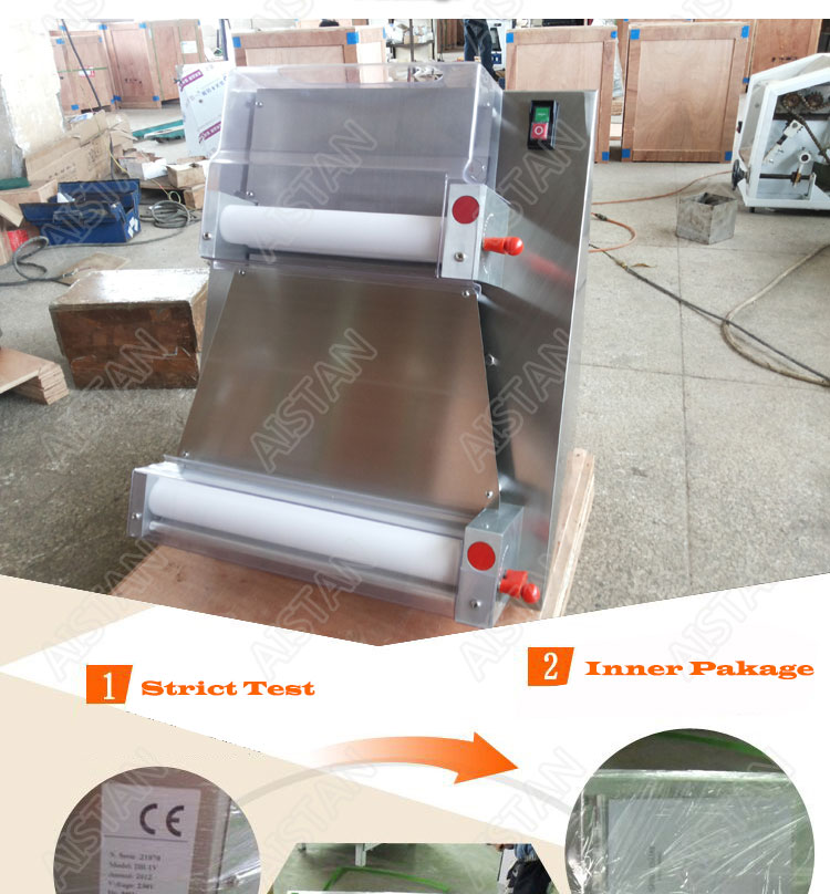 DR1V/DR1V-FP electric counter top stainless steel pizza dough roller machine pizza making machine dough sheeter 13