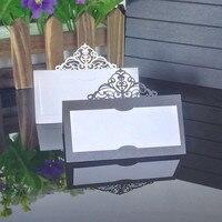 50 шт. лазерная резка элегантный корона Имя Место бумага для сидения Свадебные Таблица приглашений карты для вечерние украшение стола брак ...