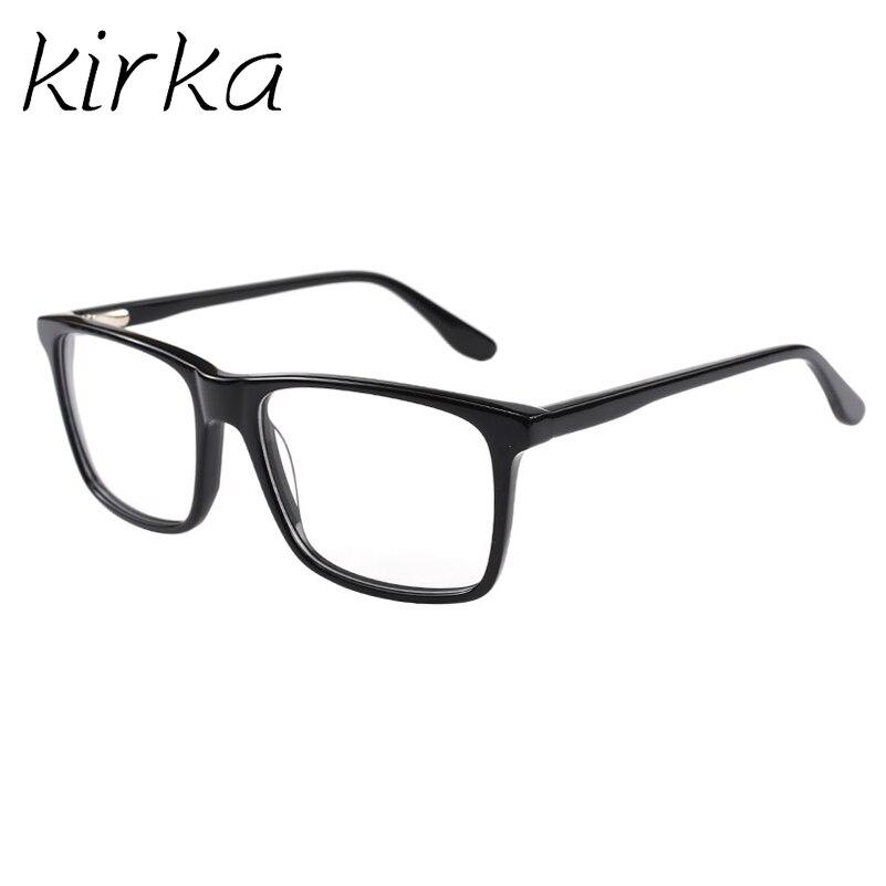 Kirka acetato marcos ópticos hombres de negocios gafas marcos negro ...