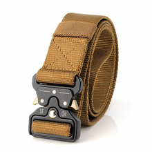 2019 Hot selling High Quality Mens Waist Tactical Belt Luxury Military Nylon Outdoor Training Black army green Brown