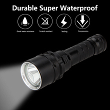 цены на Free Shipping Hot SKYRAY 2000 Lumens 12W 100m CREE XM-L LED Diving Flashlight Torch Waterproof Light 18650 battery Charger lamp в интернет-магазинах