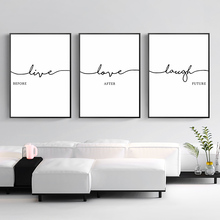 Picture Nordic Minimalist Poster Black And White Art Wall Quotes Posters Prints Living Room Canvas Painting Unframed