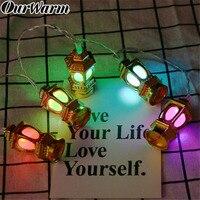 OurWarm ИД Мубарак светодиодные полосы храм Рамадан украшения светодиодной строки Батарея питание мусульманских Ислам EID вечерние поставки