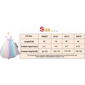 Image 5 - Girls Flower Unicorn Tutu Dress with Headband Pastel Rainbow Dress for Children Pageant Birthday Party Clothing Fairy Costume