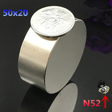 1pcs N52  Neodymium magnet  50×20 mm gallium metal super strong round magnet 50*20  Neodimio magnets for water meters speaker
