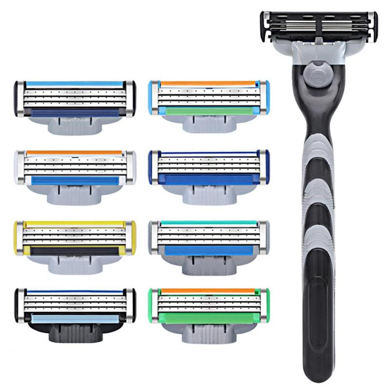 1pc Men Plastic Antislip Face Shaving Razor Handle For Shaving & Hair Removal Replaceable Razor Rack Shaver Holder Supplies