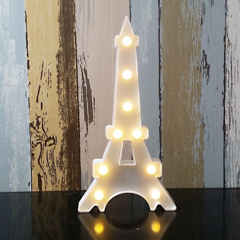 4 Farben Neuheit Tier Eiffel Tower Lampe Led Nachtlicht Dekorative