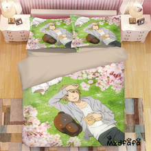 Mxdfafa Anime Natsume Yuujinchou Duvet Cover Set Bedding Set Cotton Comforter Bed Set Include 1 Duvet Cover and 2 Pillow cases цены