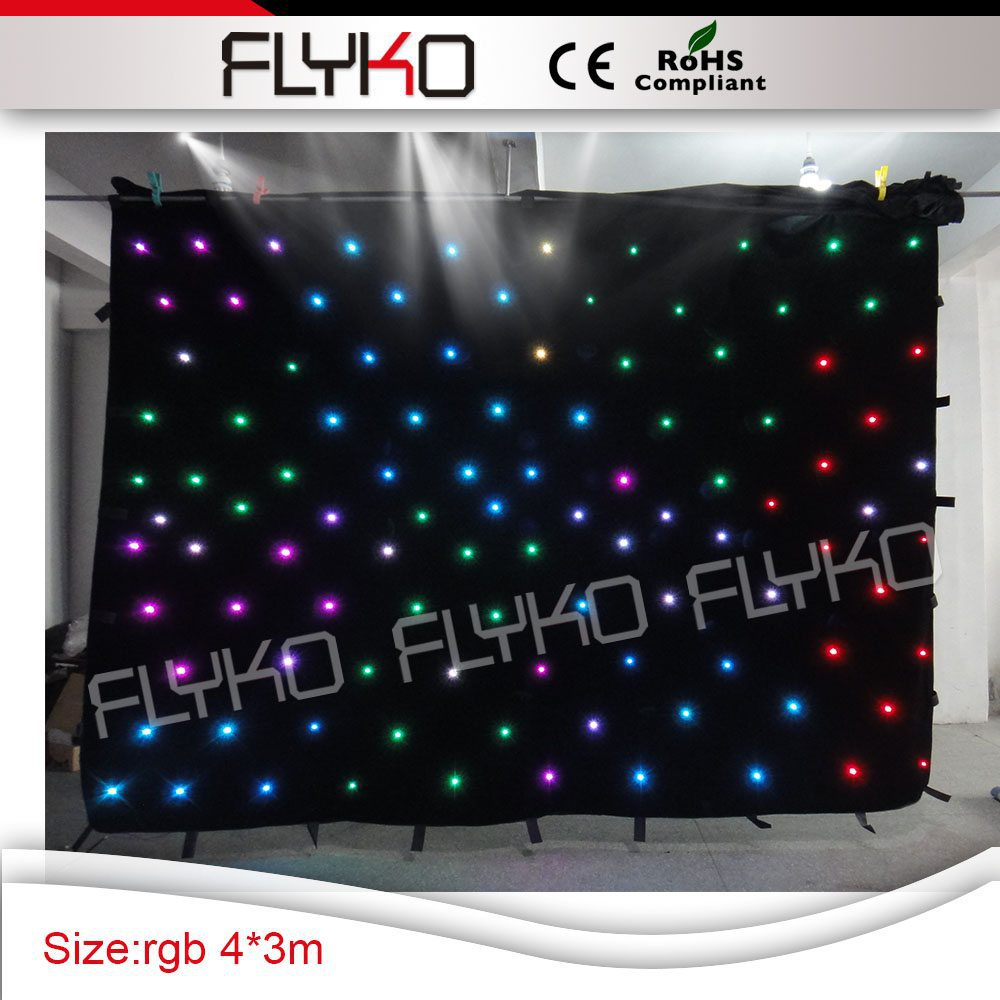 Portable Led Dj Booth Housing Stage Backdrop Led Video Cloth Curtain For Parties