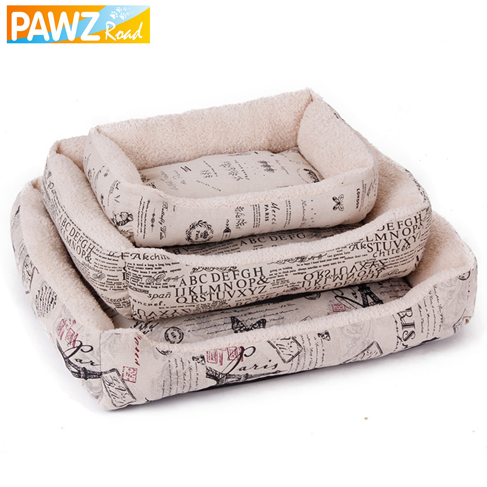 2016 hot style nostalgic retro newspaper dog bed puppy for Bed style 2016