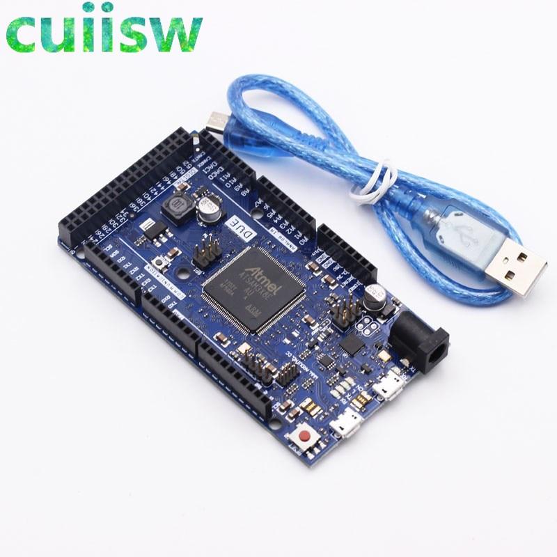 Материнская плата управления для arduino Due 2012 R3 ARM версии, 32-битная ARM-плата SAM3X8E, Mega2560, R3, Duemilanove