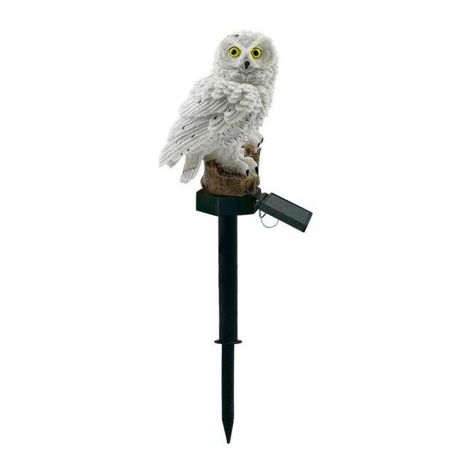 Owl Solar Light With Solar LED Panel Fake Owl Waterproof Solar Garden Lights Owl Ornament Animal Bird Outdoor Yard Garden Lamps