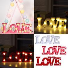 2019 aşk alfabe ışıkları led ışık Up beyaz plastik harfler ayakta asılı gece lambası F22