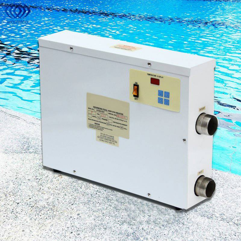 9KW 220V Digital Electric Water Heater Thermostat Swimming Pool & SPA Hot Tub Pool Heating Equipment 1.5 Inch Intak environmentally friendly pvc inflatable shell water floating row of a variety of swimming pearl shell swimming ring