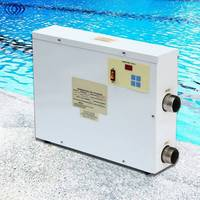 9KW 220V Digital Electric Water Heater Thermostat Swimming Pool & SPA Hot Tub Pool Heating Equipment 1.5 Inch Intak