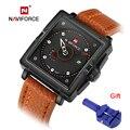 Naviforce moda relojes hombres marca de lujo de los hombres reloj de cuarzo fecha impermeable reloj deporte militar del ejército reloj de pulsera reloj de pulsera