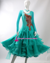 Standard Ballroom Dance Dresses Women 2017 New High Quality Custom Made Stage Tango Waltz Competition Ballroom Dancing Dress