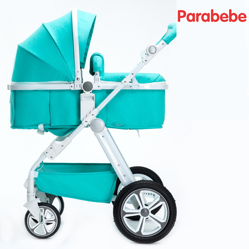 High Landscape Baby Strollers Brands Portable Pushchair Carriage Big Wheels Strollers For Newborns Pink Girls Toddler Bike Pram avoid the ultraviolet radiation with the canopy pushchair baby build a safe soft environment for babies boys and girls pushchair