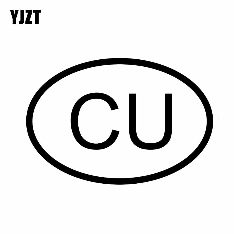 Yjzt 13 7cm 9 3cm Car Sticker Cu Cuba Country Code Oval Vinyl Decal Black Silver C10 01303 In Stickers From Automobiles Motorcycles On Aliexpress