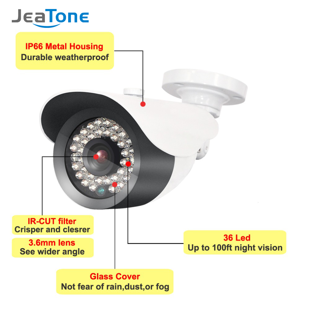 Image 2 - JeaTone  1080P IP Camera Surveillance Camera with 3.6mm Lens Waterproof 2.4 Mega Pixel-in Surveillance Cameras from Security & Protection