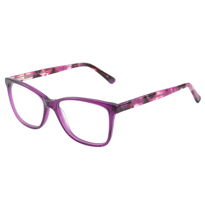 Weibliche der Grad Brillen Lila Acetat Brillen Brillen Rahmen ...