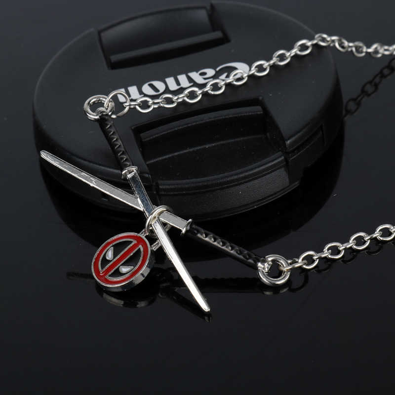 dongsheng Fashion Deadpool Choker Necklace Metal Deadpool mask Super Hero Sword Pendant Necklace -30