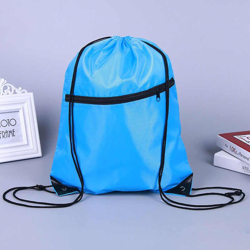 6 couleurs Portable étanche en Nylon sacs à chaussures cordon poussière basket-ball sacs à dos pochette de rangement en plein air voyage stockage sacs de sport