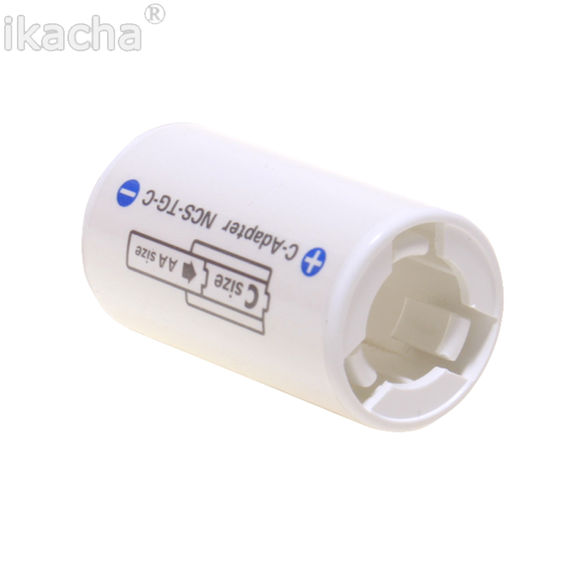 Image 5 - For All Types For Sanyo Ene Loop Battery Adaptor Converter NCS TG C AA R6 to C R14 C Size High Quanliyt-in Battery Storage Boxes from Consumer Electronics