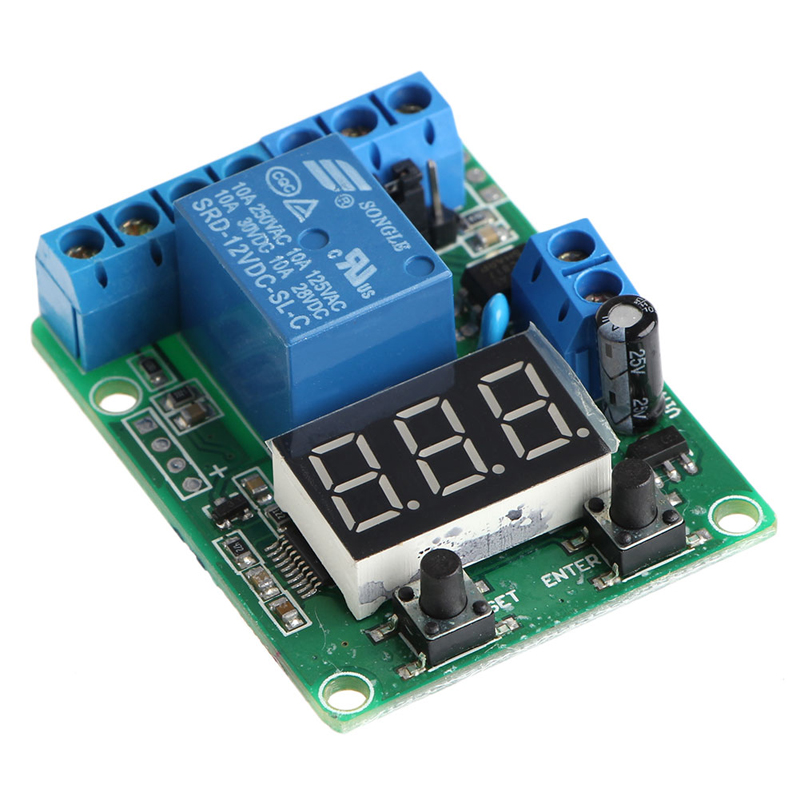 DC Relay Module Control Board 12V Switch Load Voltage Detection Test Monitor dc 5v light control switch photoresistor relay module detection sensor xh m131