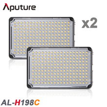 2PCS High CRI 198 LED Video Light Aputure Amaran H198C Light for Camcorder with Free Portable Bag and Support 3200K to 5500K