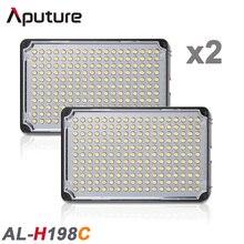 2PCS высокий CRI 198 светодиодные лампы видео Aputure Amaran H198C Свет для видеокамер с свободной Портативная сумка и поддержки 3200K к 5500K