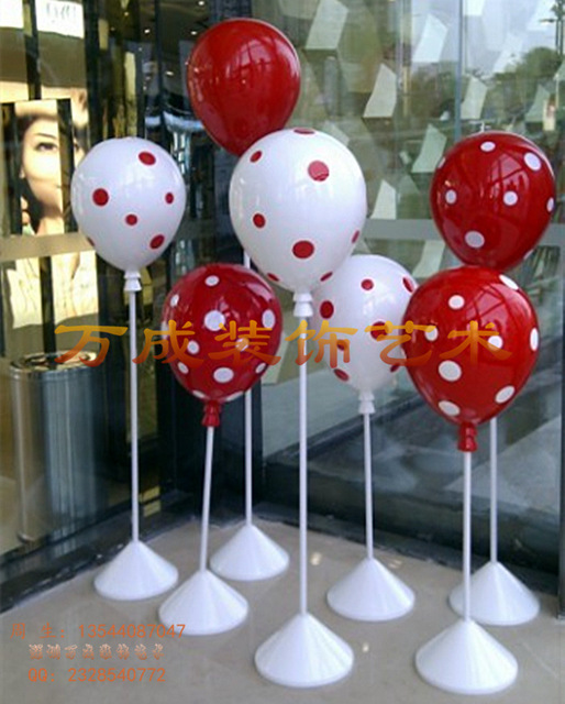guangdong fiberglass window manufacturers custom balloon decorations store window decoration booth decoration - Fiberglass Christmas Decorations