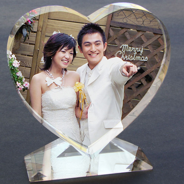k9 cristal coeur photo personnalisation cadre grav au laser de mariage photo album de valentine jour - Cadre Photo Mariage Grav