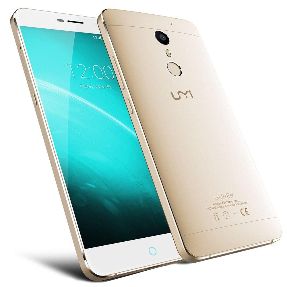 Цена за Оригинал Umidigi Супер Android 6.0 Сотовый Телефон MT6755 Octa Ядро 4 Г + 32 Г Смартфон 5.5 Дюймов 4000 мАч отпечатков пальцев Мобильный Телефон