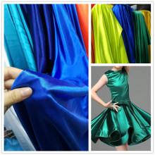 Multi-color High-elastic satin/glossy spandex fabric Latin dance dress Stage costume DIY