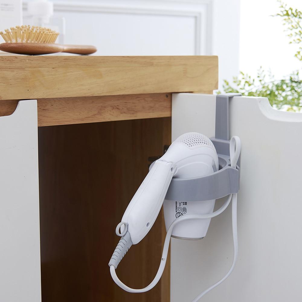 Badezimmer Regale Mrosaa Haar Trockner Eisen Rack Halter Organizer Badezimmer Wand Montiert Lagerung Stehen Aufhänger Haken Haushalt Haartrockner Regal