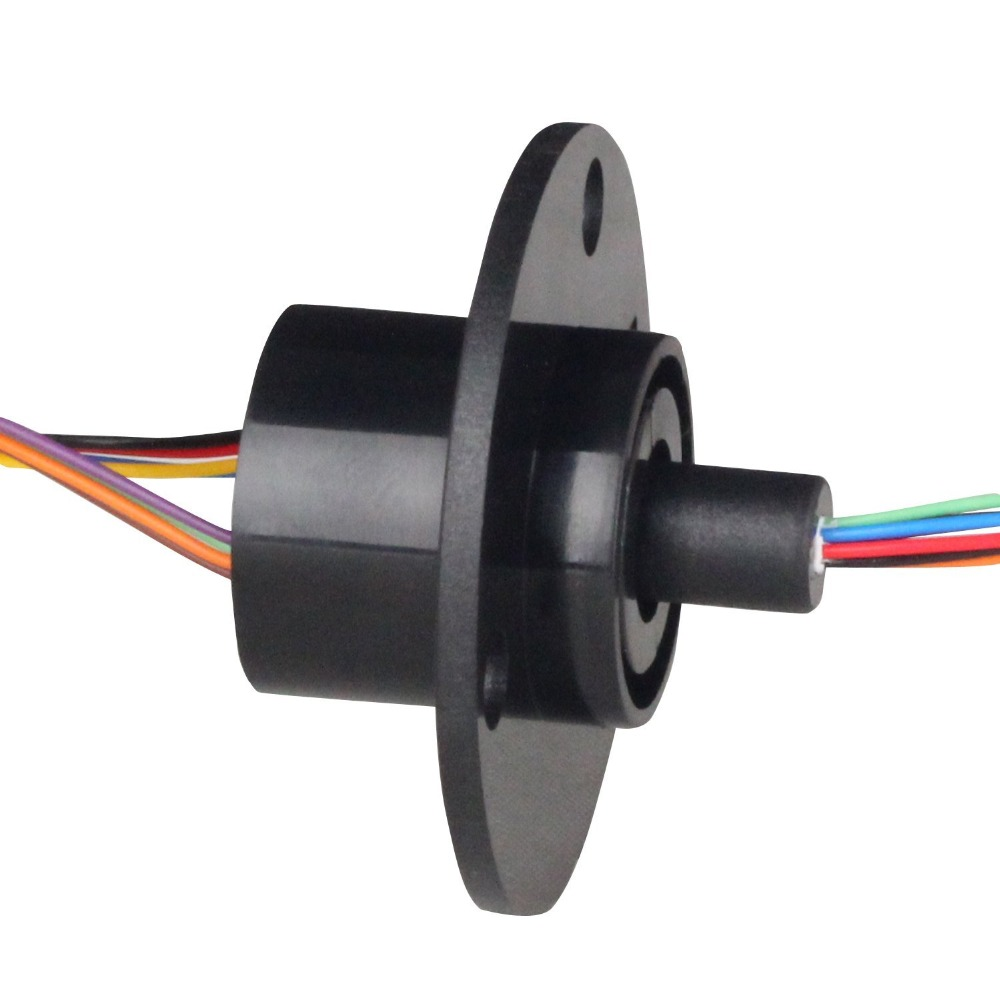 DHL FEDEX FREE Ship 22MM 300 RPM 8 Circuits 2A Capsule Slip Ring 8 Conductors rotary electrical collector