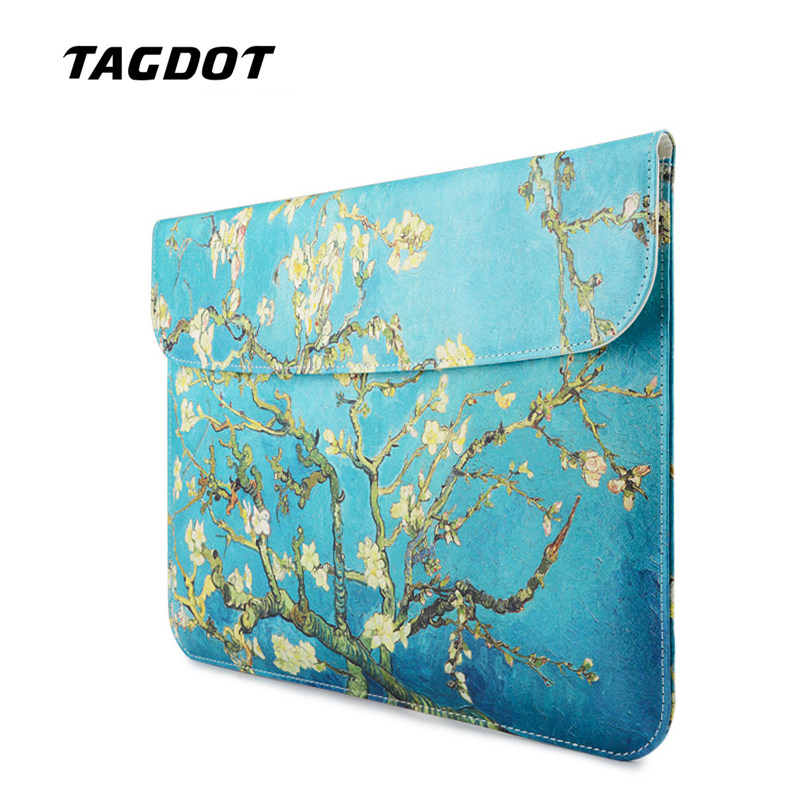 Tagdot Laptop sleeve 13.3 inch PU Leather Waterproof Laptop case 13 12 inch laptop sleeve bag for macbook air 13 sleeve