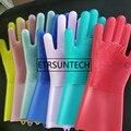Волшебные силиконовые перчатки с Скруббером Piixy многоразовые термостойкие перчатки для посуды кухонный инструмент многоцелевой уход за до...