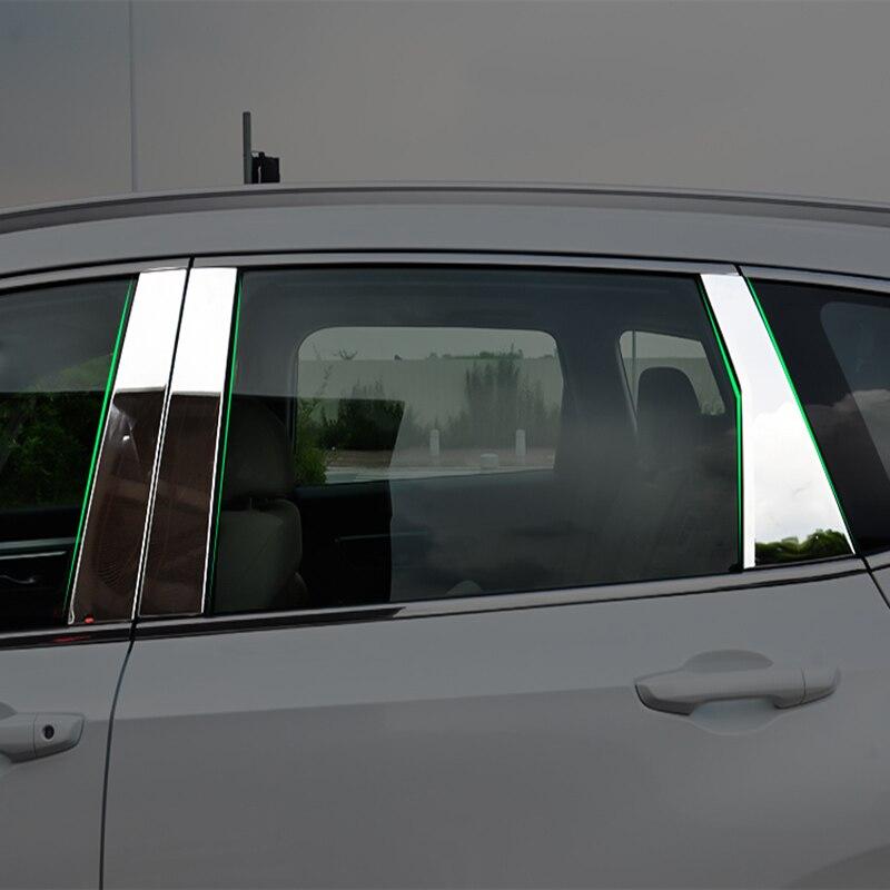 New Chrome Stainless Steel Window B C Pillar Trim For Honda CRV CR-V 2017 2018