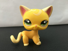 New Pet Collection Figure LPS 2194 Green Eyes Orange Yellow Short Hair Cat Kitty font b