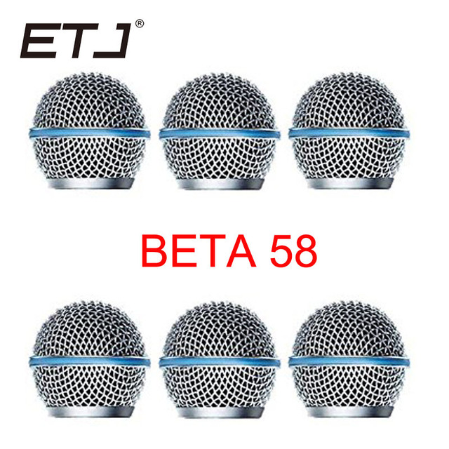 Freeshipping 6pcs/lot Professional Replacement Ball Head Mesh Microphone Grille Fits For shure sm 58 sm 58sk beta 58 beta58a