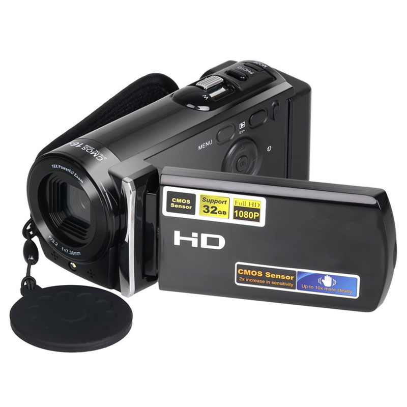 HDV 601S Portable Video Camcorder 1080P 20MP Camera HDMI Output 3.0'' TFT LCD Screen 16X Digital Zoom Camera Video Recorder portable infrared video camera 1080p hd 16x zoom 3 0 tft lcd digital video camcorder camera dv dvr support for night shooting