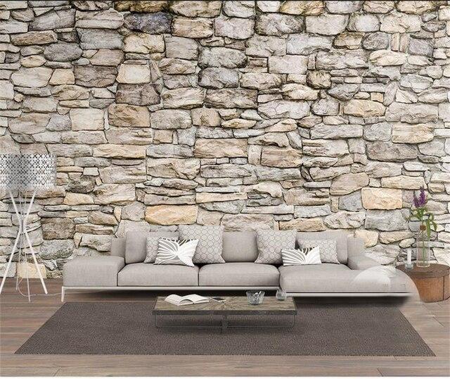 Benutzerdefinierte Größe Mural Foto 3d Tapete Wohnzimmer Natur Kultur Stein  3d Malerei Tv Hintergrund Vliestapete Für