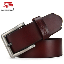 DINISITON Newest Designer Belts Men High Quality Cow Genuine Leather Vintage Pin Buckle Casual Ceinture Mens Belt Luxury TK