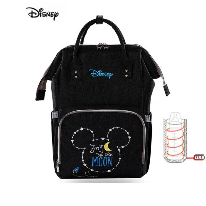 Sac de poussette Oxford sac de maman   Sac de maman Disney, sac de poussette chauffe-USB, sac de maternité multifonction, sac à couches étanche pour bébé Mickey Minnie