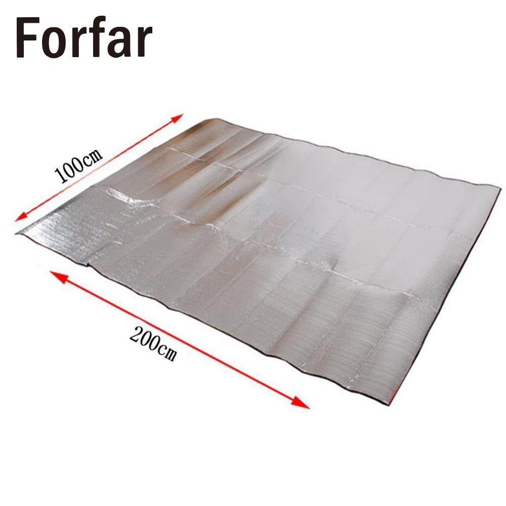 Waterproof Aluminum Foil Camping Mat Foldable Sleeping Picnic Beach Outdoor RU