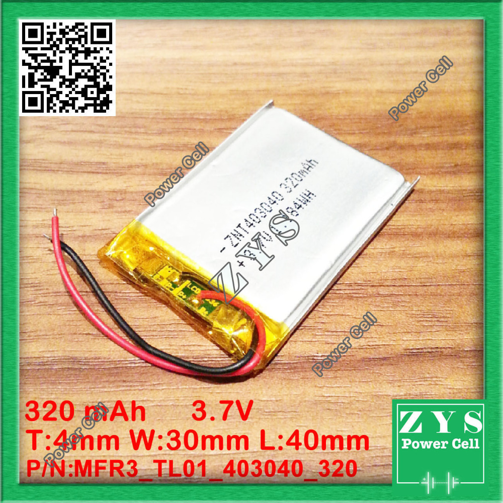 403040 <font><b>3.7V</b></font> <font><b>320mah</b></font> Lithium polymer Battery with Protection Board For PDA Tablet PCs Digital Products 4x30x40mm 320 mAh 043040 image